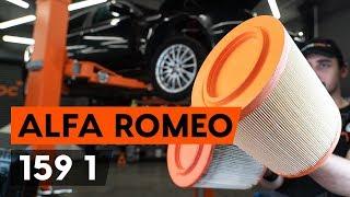 Cómo cambiar los filtro de aire en ALFA ROMEO 159 1 (939) [VÍDEO TUTORIAL DE AUTODOC]