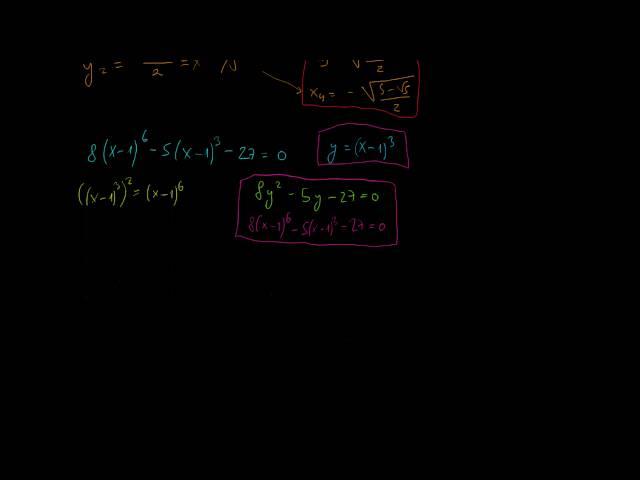 Speciális, magasabb fokszámú egyenletek (1. rész)