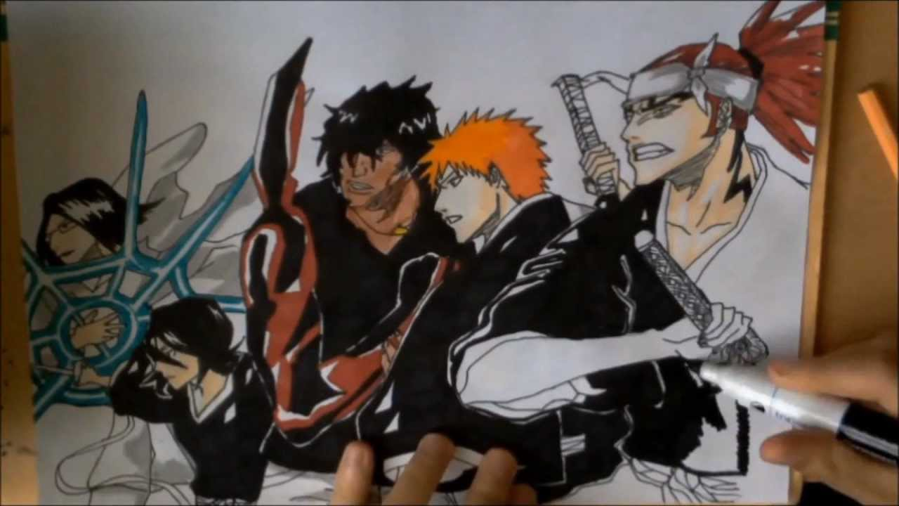 Drawing A Bleach Wallpaper Hd 1080p By Draftsmanmomo93 Youtube
