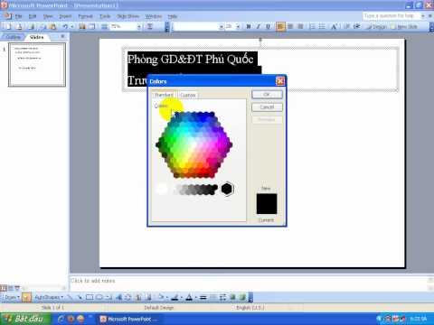 Microsoft Office PowerPoint 2003 bai 1  huong dan  dinh dang ban dau
