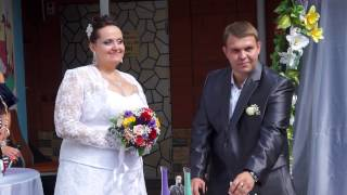Эмоции невесты на регистрации)