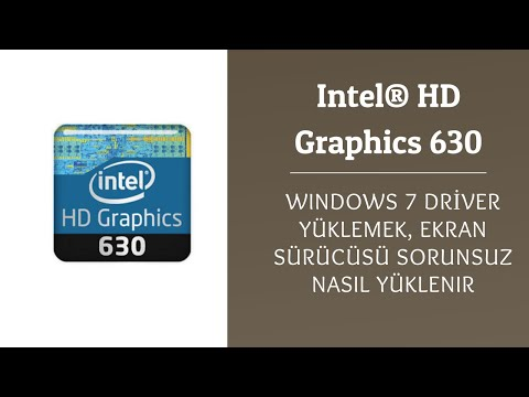 Intel® HD Graphics 630 Windows 7 32 64 Bit Driver Yükleme, Installing HD 630 Drivers On A Windows 7