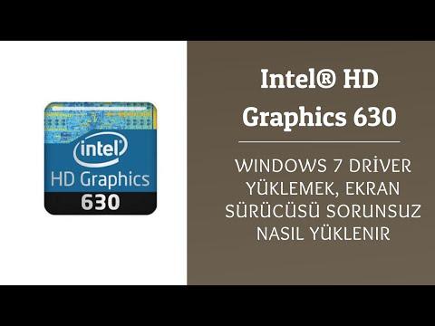Intel® HD Graphics 630 Windows 7 32 64 bit driver yükleme. Installing HD 630 Drivers on a Windows 7 - YouTube