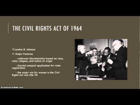 HST328 The Second Wave of Feminism: Key Legislation & Court Cases