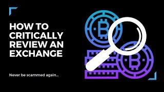 Crypto & Bitcoin Exchanges | How To Differentiate The Real From The Scams....