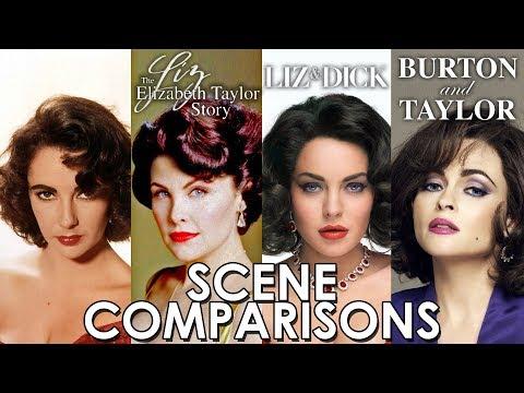 Liz: The Elizabeth Taylor Story, Liz & Dick and Burton and Taylor - scene comparisons