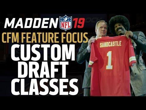 Madden 19 Franchise Feature Focus | Custom Draft Classes
