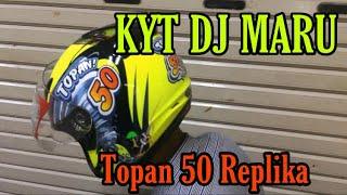 UNBOXING & REVIEW HELM KYT DJ MARU TOPAN 50 ( REPLIKA )