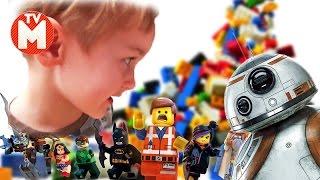 ЛЕГО ФАБРИКА ДЛЯ ДЕТЕЙ Приключения Давида и Дроида в Lego Сity Звездные войны ВИДЕО ДЛЯ ДЕТЕЙ