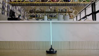 El robot 'Conga Apolo' garantiza espacios libres de virus al 99,9%