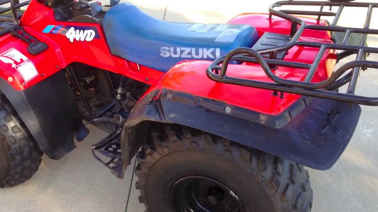 1991 SUZUKI 250 QUADRUNNER 4x4 (I have a question) - YouTube