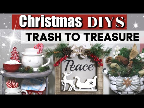 DIY Christmas Thrift Store Makeovers | Trash To Treasure DIY Christmas Crafts | Krafts by Katelyn