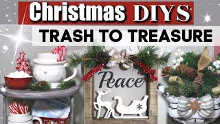 Diy Christmas Thrift Store Makeovers | Trash To Treasure Diy Christmas Crafts | Krafts By Katelyn