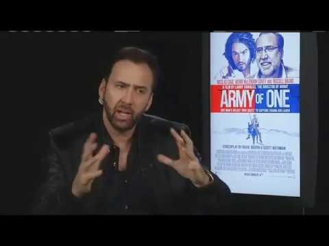 Nicolas Cage - Interview for 'Army Of One' (Oct.27)