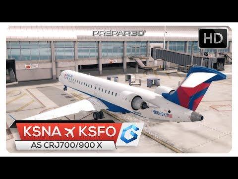 Repeat [P3Dv4] AS CRJ 900 NEAR CRASH TAKEOFF!   KSNA - KSFO