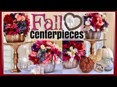 Dollar Tree Fall Pumpkin Flower Arrangement | FALL HOME DECOR | Fall WEDDING Centerpiece Ideas