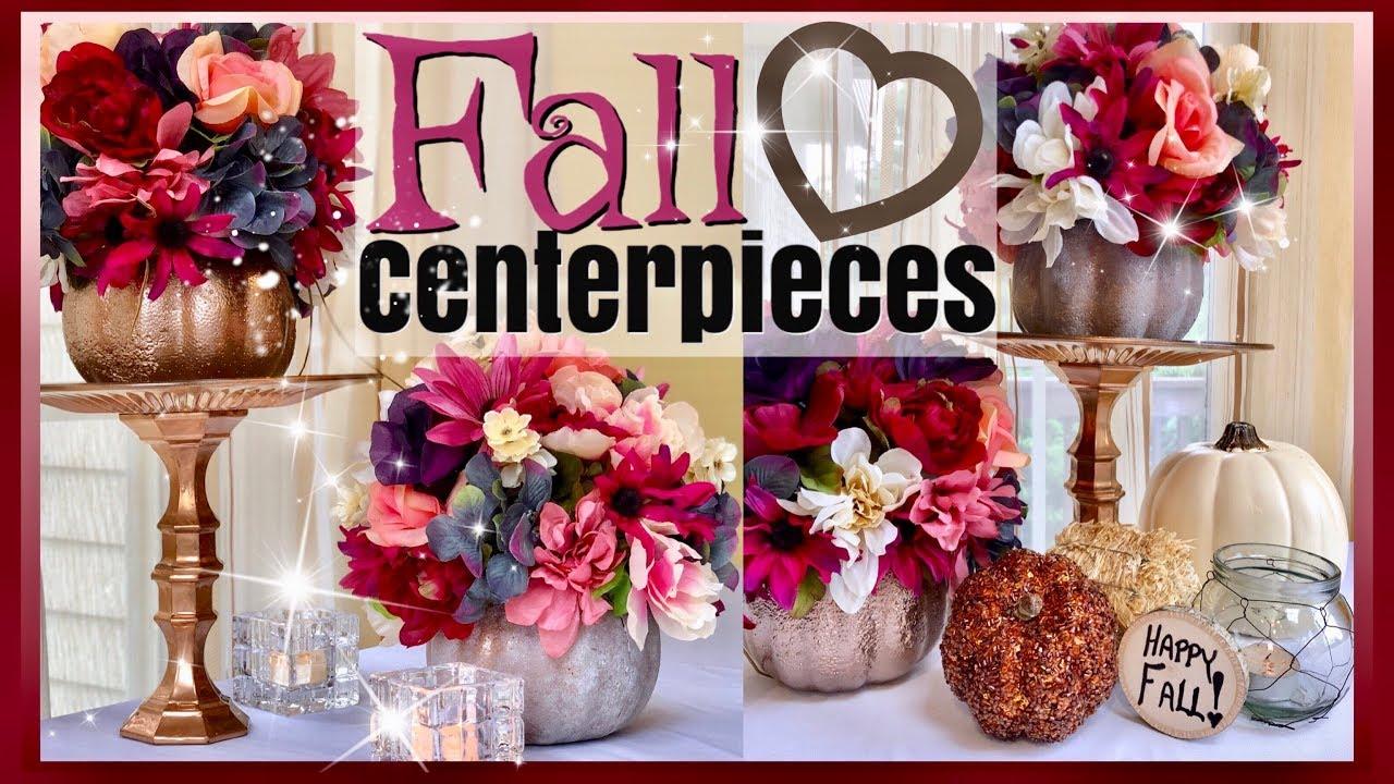Dollar Tree Fall Pumpkin Flower Arrangement Fall Home Decor Fall Wedding Centerpiece Ideas