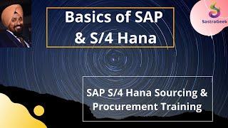 SAP S/4 Hana Sourcing & Procurement. Session 01:  Basics of ERP, SAP and S/4 Hana