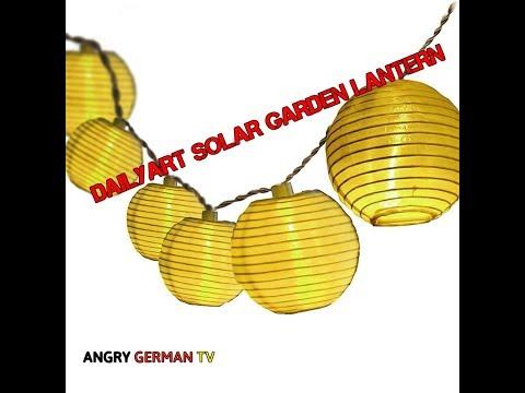 Dailyart Solar garden lantern Product test / review