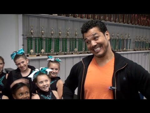 Geno Segers Mason from Disney's Pair of Kings Visits Cheer Extreme Youth Elite team