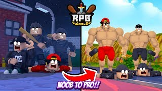 ROBLOX - RPG WORLD, NOOB TO PRO IN 20 MINUTES!!