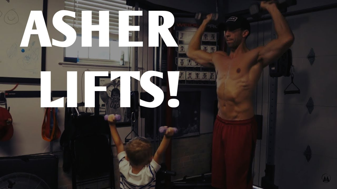 Working out with daddy