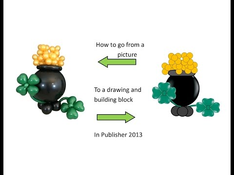 Publisher Tutorial: How to Create a Pot Of Gold Balloon Sculpture in Publisher 2013