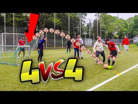4 VS 4 FUßBALL SPIEL ! *richtiges Match*