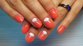 Дизайн ногтей гель-лак shellac - Лунный маникюр - Маникюр Диор (видео уроки дизайна ногтей)