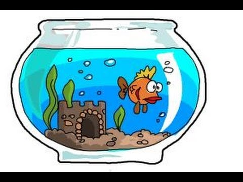 How To Draw Aquarium Youtube