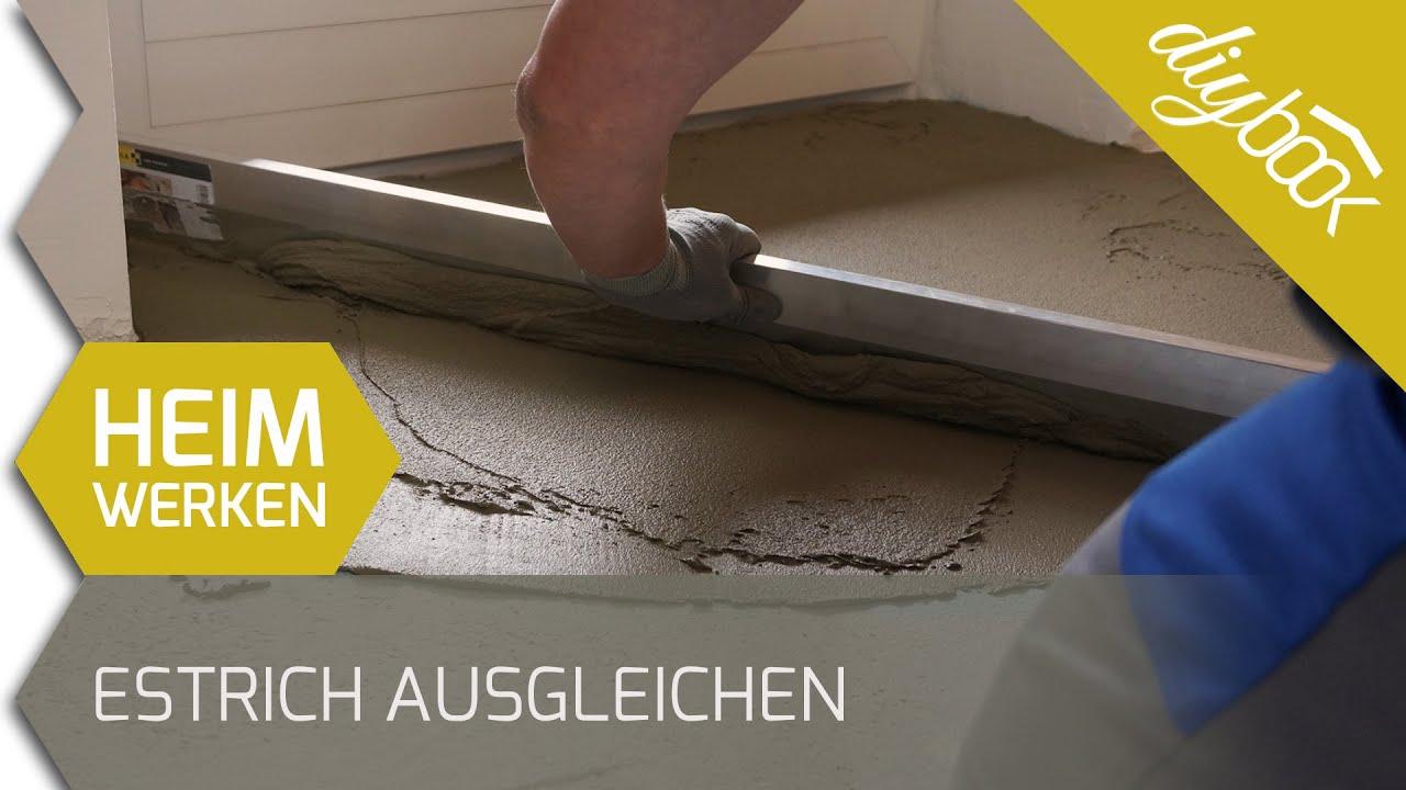 Fußboden Ausgleichen Ohne Estrich ~ Boden ausgleichen unebenen estrich spachteln youtube