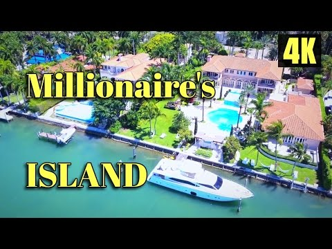 Millionaire's Islands in Miami Beach: Star Island and Palm Island