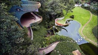 Explorando el hotel con forma de serpiente | Nido de Quetzalcóatl