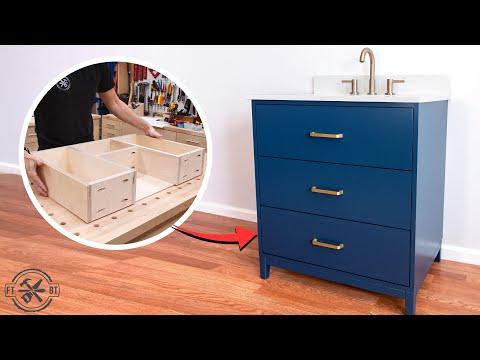 diy-bathroom-vanity-with-custom-drawers-|-woodworking