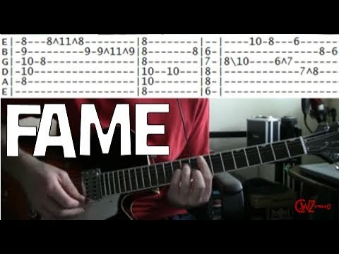 guitar lessons online David Bowie fame tab