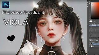 Photoshop Speedpaint  - VISLA 포토샵 스피드 페인팅 - 비즐라