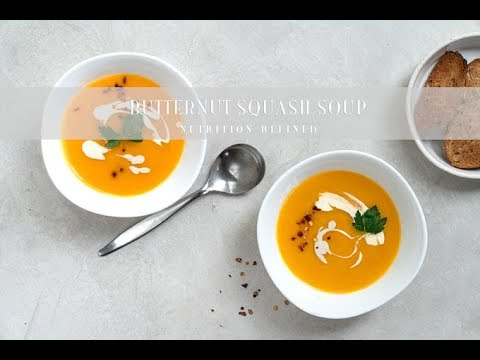 Roasted Butternut Squash Soup | Vegan, Paleo