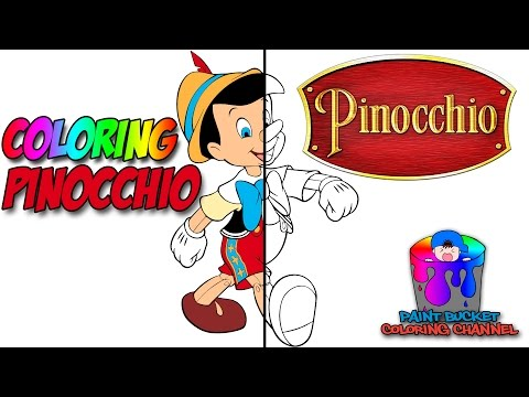 Walt Disney's Pinocchio - Disney Coloring Pages For Kids To Learn Colors