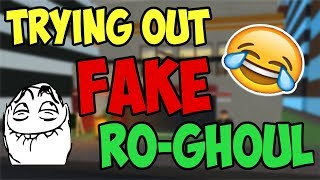 TRYING OUT FAKE RO-GHOUL GAME - ROBLOX