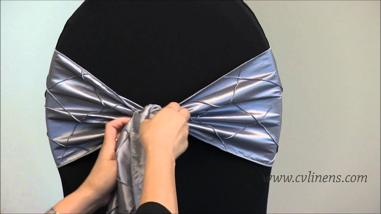 Chair Covers And Bows Bridgend Most Expensive Massage In The World How To Tie A Flip Sash Youtube