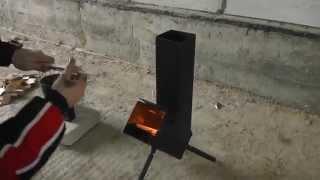 Ракетная печь для отдыха (испытание)