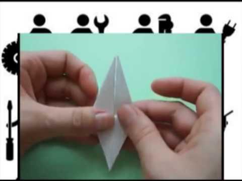 видео: Как сделать оригами  журавлика , как сделать журавлика из бумаги