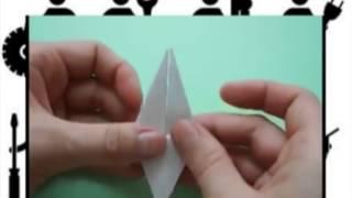 Как сделать оригами  журавлика , как сделать журавлика из бумаги