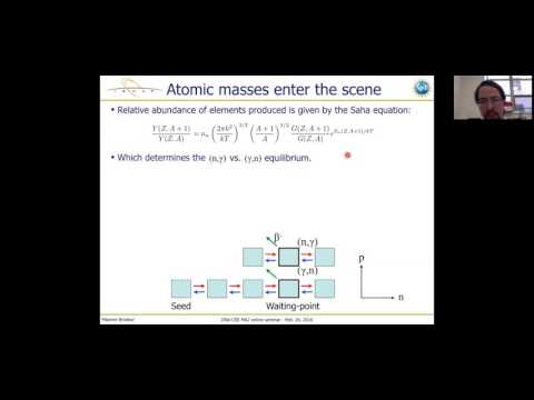 Maxime Brodeur's JINA-CEE online seminar on precision mass measurements for Nuclear Astrophysics