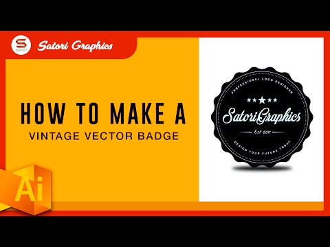 MAKING A VECTOR BADGE LOGO TUTORIAL - ILLUSTRATOR LOGO DESIGN