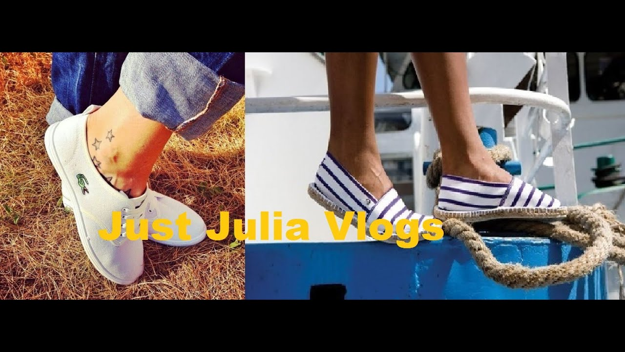 Vlog ♥ Женские Кеды Lacoste & полосатые женские кеды тапочки .