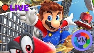 LIVE | Super Mario Odyssey - Collecting all ze moons!
