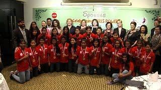 নারী ফুটবল দলকে বিদেশী কূটনীতিকদের সংবর্ধনা | Bangamata U19 Women's Int'l Gold Cup 2019