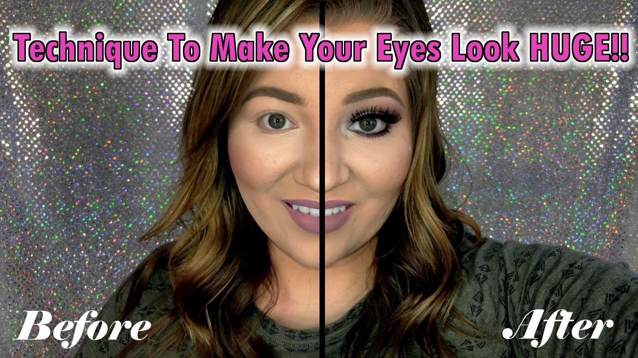 how to make eyes look huge