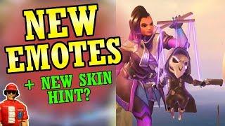 New Genji, Mercy, & Sombra Emotes + New Skin Hint? (Overwatch News)